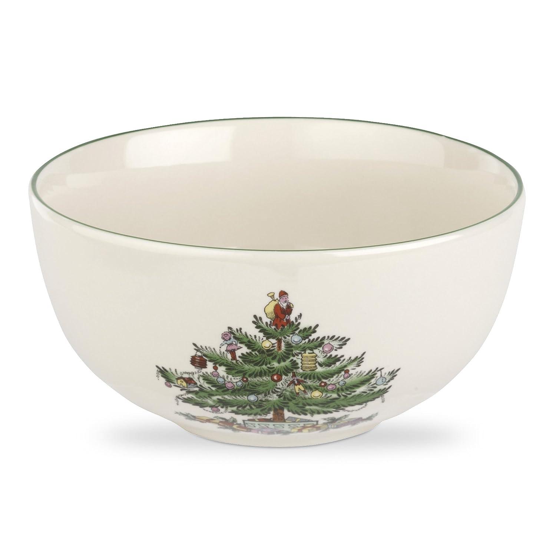 Christmas Tree Fruit Salad Bowl Spode Christmas Tree Fruit Salad Bowl, 5-1 2-Inch, Set of 4
