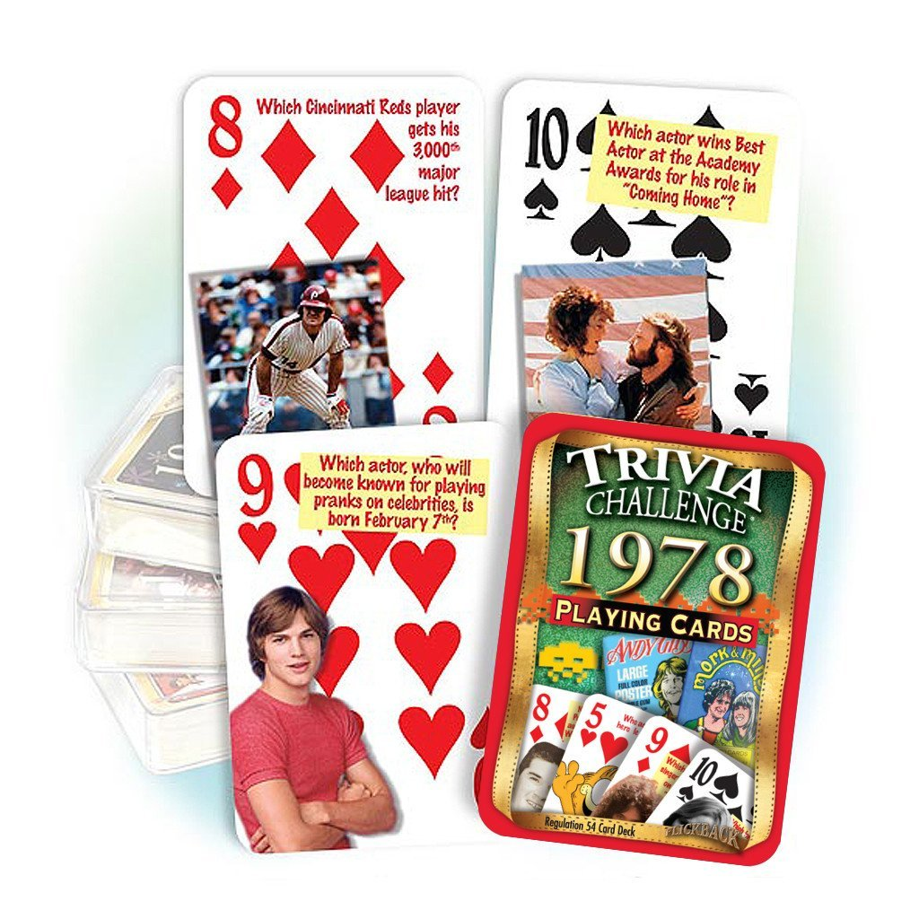 1978 Trivia Playing Cards: 40th Birthday or Anniversary Gift Flickback Media Inc.