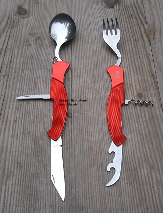 Fox Outdoor - Navaja 6 en 1 (divisible), color rojo: Amazon.es ...