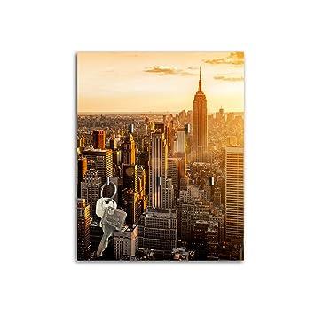Schlüsselbrett mit Design New York Schlüsselboard Schlüsselhaken ...