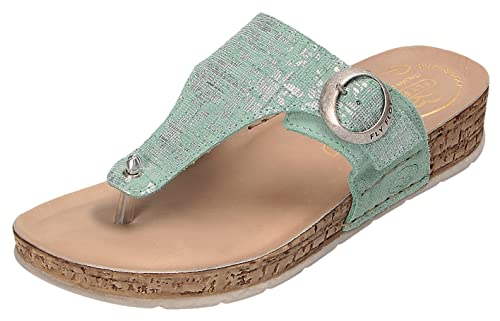 Ladies clogs by FlyFlot - slipper slipper - leather soft footbed - blue