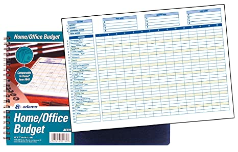 amazoncom adams home office budget book weeklymonthly format 10 x 7 inches white afr31 record books office products