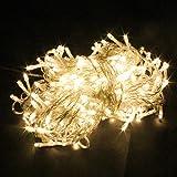 PragAart 80 LED Bulbs String Light for Diwali Christmas Home Decoration, 10 m (Warm White)