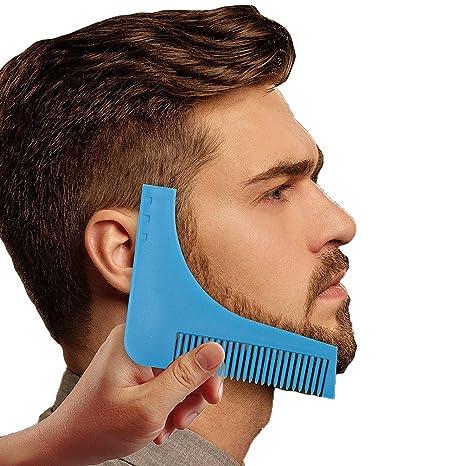 yoofor Barba Styling Tool Barba Plantilla y barba peine de alta calidad abs sintética toque,