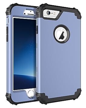 BENTOBEN Funda iPhone 6 Silicona, Funda iPhone 6s, 3 en 1 Carcasa Combinada PC Híbrido y Silicona TPU Suave Fuerte Resistente PC Bumper a Prueba de ...