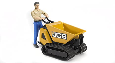 bruder JCB Mikrobagger 8010 CTS und Bauarbeiter Spielzeugautos Modellfahrzeug