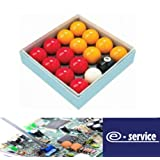 """Red and Yellow 2"""" Pool Ball Set (1 7/8 Inch Cue Ball)"""