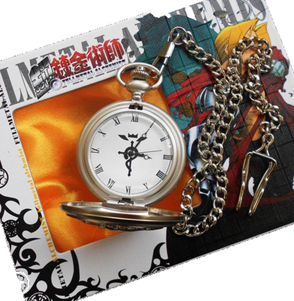 Touirch Fullmetal Alchemist Edward Elric's Gift Birthday Pocket Watch Cosplay Anime Accessory