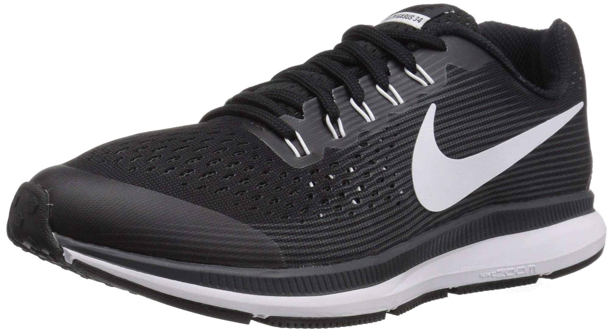 Nike Boy's Zoom Pegasus 34 (GS) Running Shoe Black/White/Dark Grey/Anthracite Size 3 M US