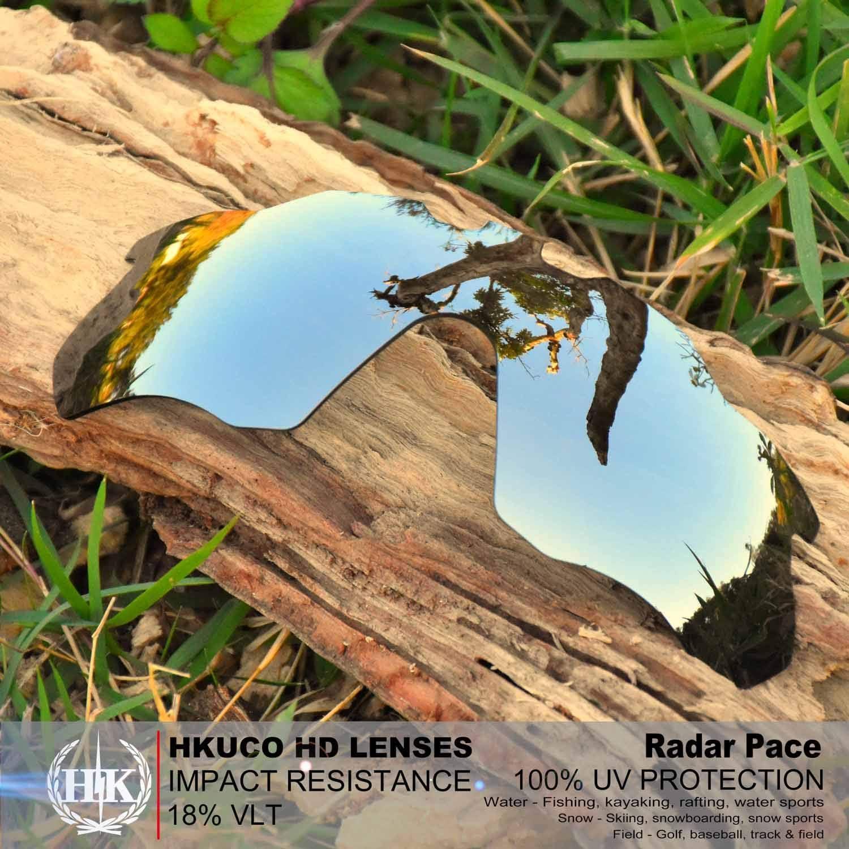 HKUCO Lenti di Ricambio per Oakley Radar Pace Occhiali da Sole Rosso/Blu/Titanio