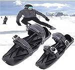 Kelei Mini Skis, Short Skis for Snow, Skiboard Snowblades, Adjustable Snowshoes,