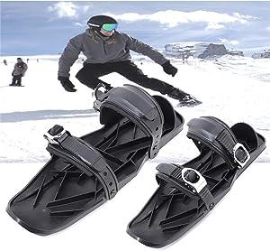 Kelei Mini Skis, Short Skis for Snow, Skiboard Snowblades, Adjustable Snowshoes, Anti-Slip Foot Panels Ski Boots, Outdoor Skiing Winter Sports Equipment