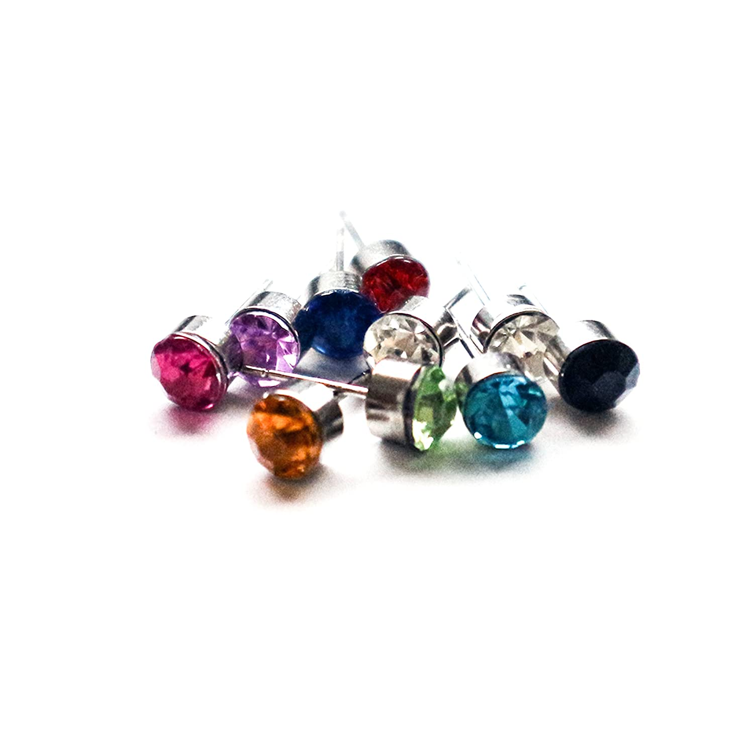 Stud Earrings by Kurtzy 20 Pairs of 3mm Stud Head and 1 5cm Long