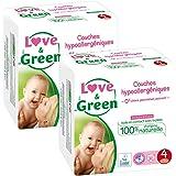 Pannolini ecologici Amore & Green Taglia 4 - Confezione da 2 x 30 strati (60 strati)