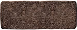 "mDesign Soft Microfiber Polyester Non-Slip Extra-Long Spa Mat/Runner, Plush Water Absorbent Accent Rug for Bathroom Vanity, Bathtub/Shower, Machine Washable - 60"" x 21"" - Heather Chocolate Brown"