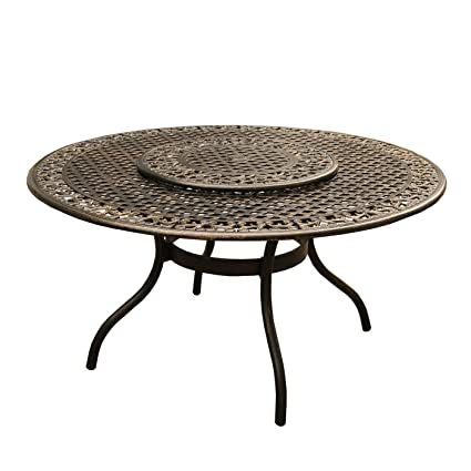 amazon com oakland living az2555 round 59 ornate table lazy bz rh amazon com round table pizza oakland round table oakland grand ave