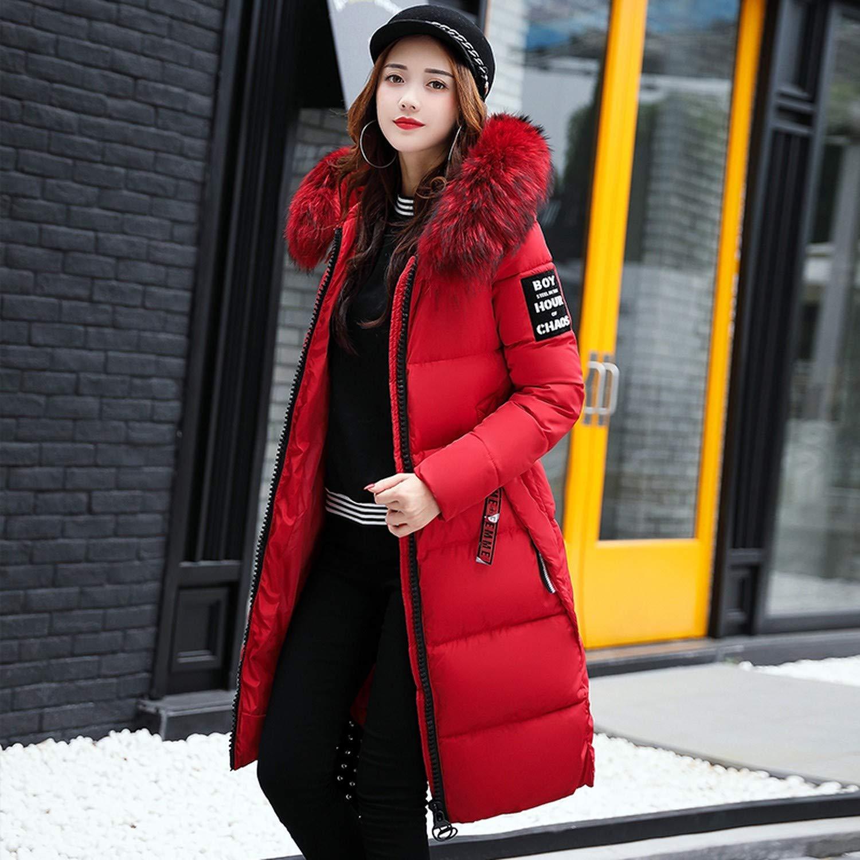 Hooded Winter Down Coat Jacket Long Warm Women Parkas Outwear Coats Ru50