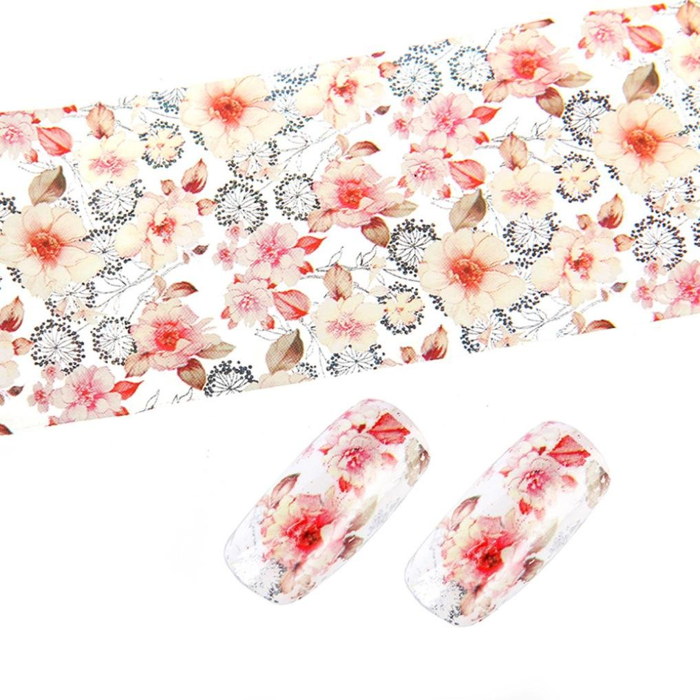 Dolloress Nail Tips ⭐4cm*100cm Per Roll Manicure Flower Design Nail Art Foil Stickers Transfer Decal Tips