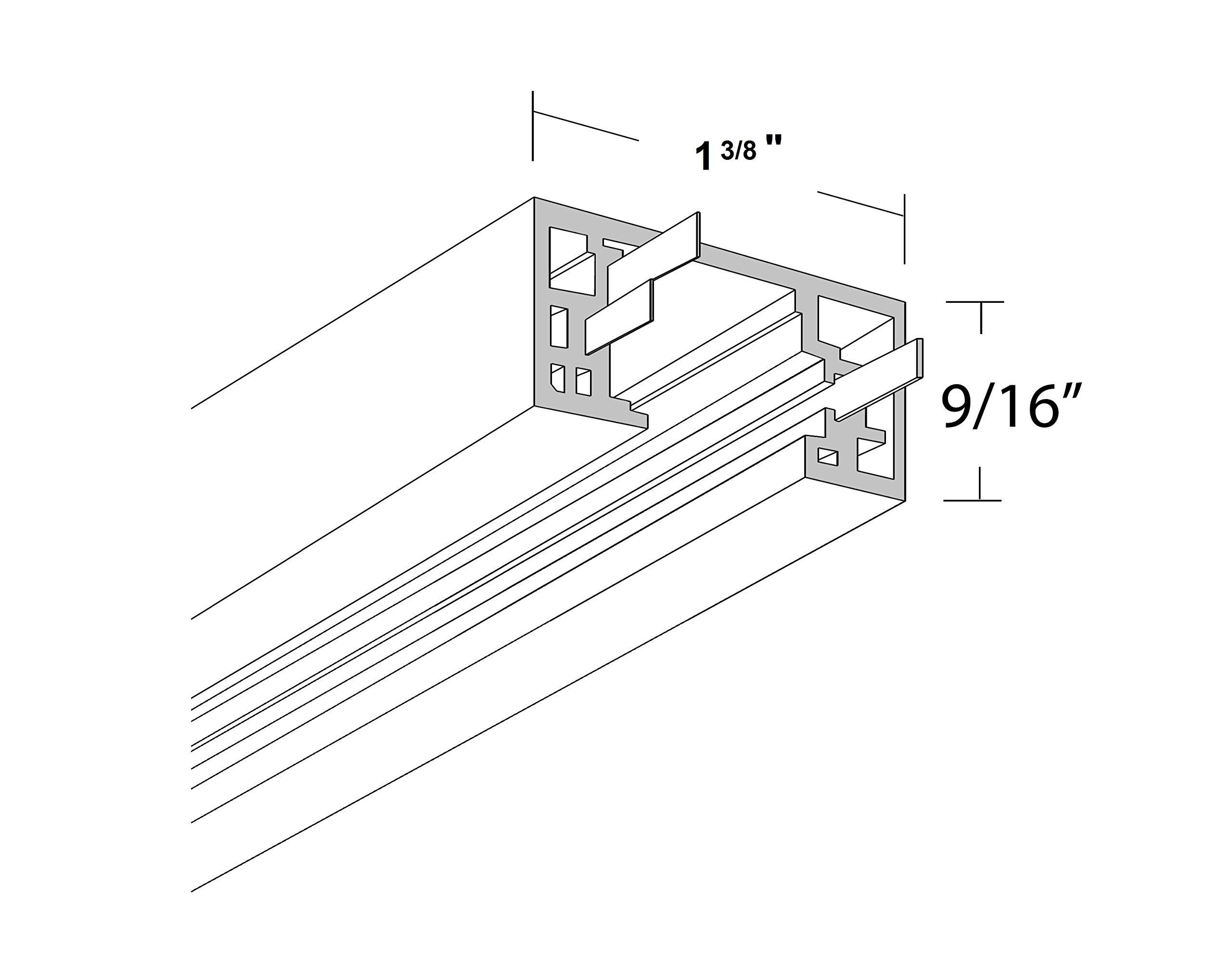 NICOR Lighting 8-Foot Track Rail Section, Nickel (10008NK)