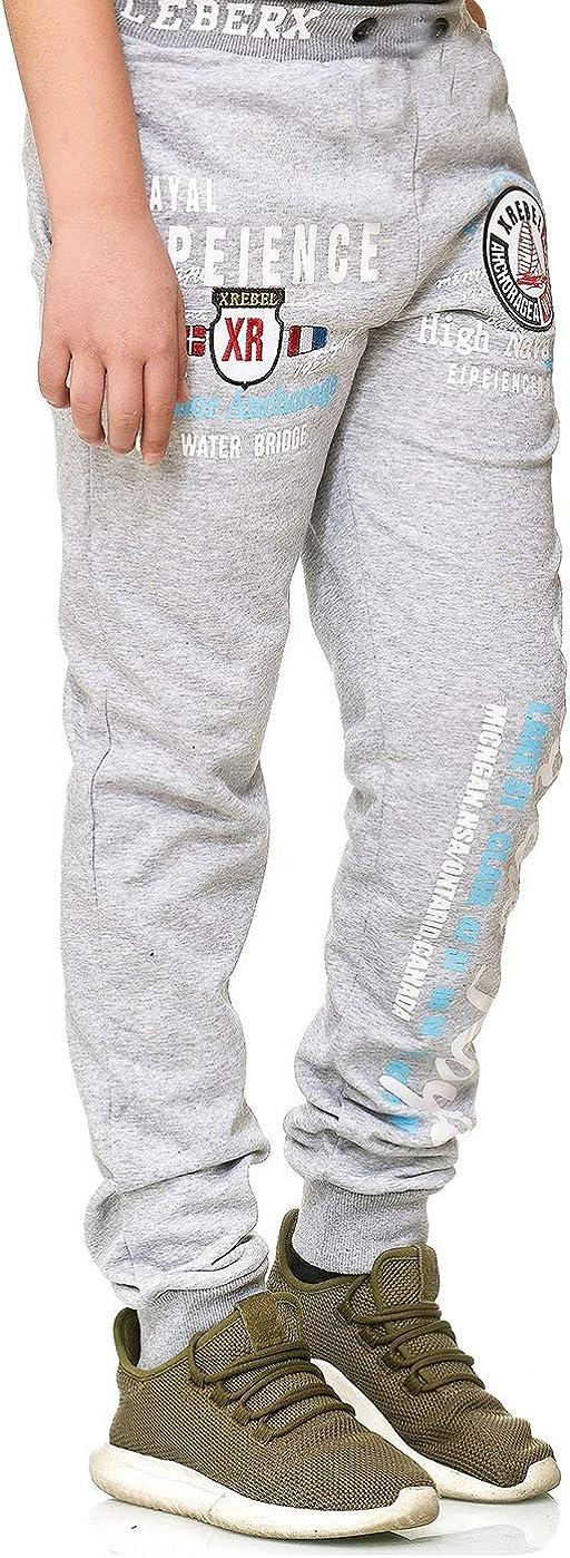 XRebel Kinder Junge Jogging Hose Jogger Streetwear Sporthose Modell W38