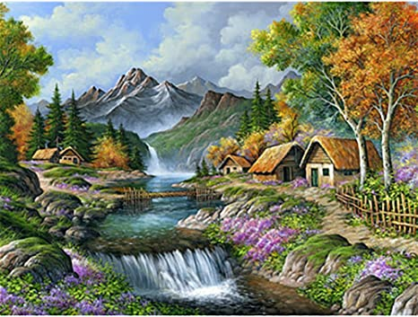 Malen nach Zahlen Kit DIY Berge Leinwand Öl Kunst Bild für Home Wall Decor