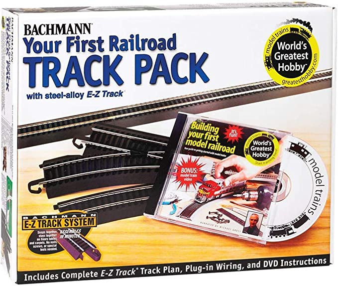 Amazon.com: Bachmann Trains Snap-Fit E-Z TRACK WORLD'S GREATEST HOBBY TRACK  PACK - Steel Alloy Rail With Black Roadbed - HO Scale: Toys & GamesAmazon.com