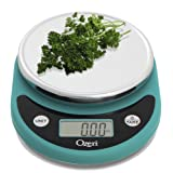 Ozeri Pronto Digital Multifunction Kitchen and Food Scale Teal Blue
