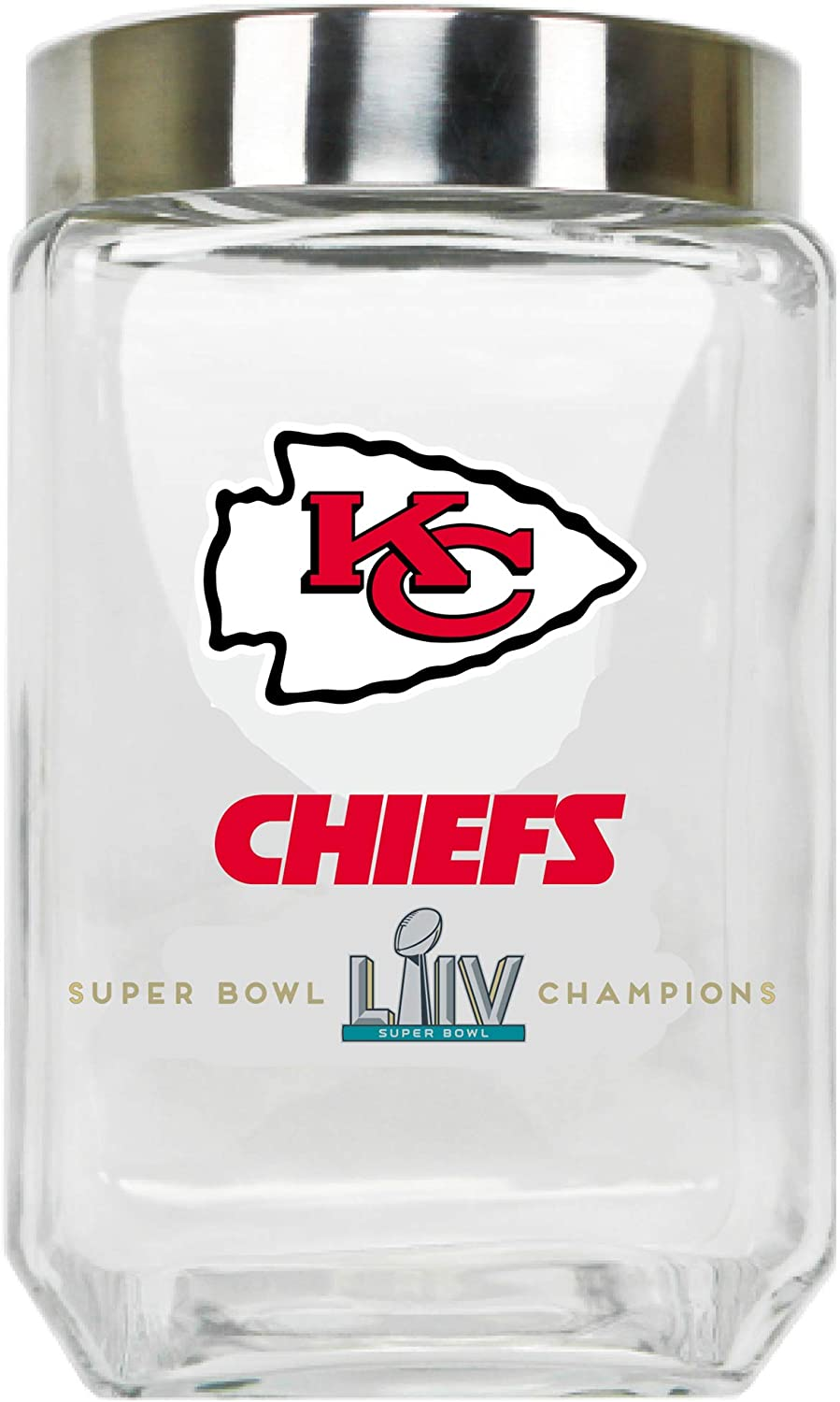 Duck House 2020 Super Bowl LIV (54) AFC Champion Glass Canister W/Screw-ON Cap - Large