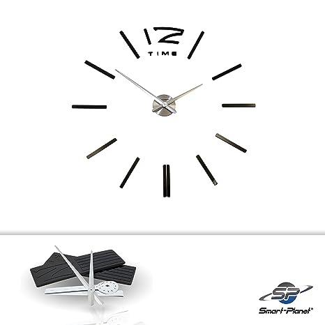 Smart Planet® Reloj de pared de alta calidad para pegar elegante moderno salón decoración Reloj