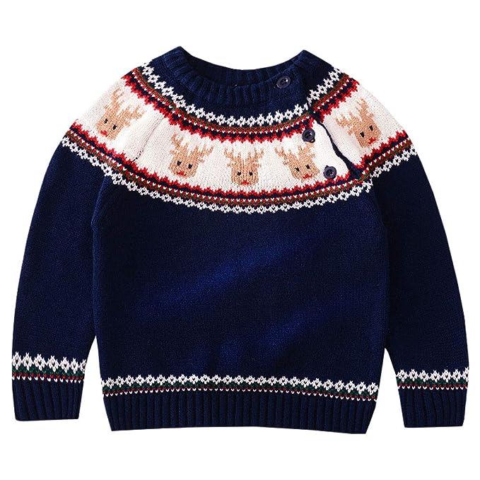 LPATTERN Jersey Suéter Sudaderas para Navidad Año Prendas de Punto para Bebé Niños: Amazon.es: Ropa y accesorios