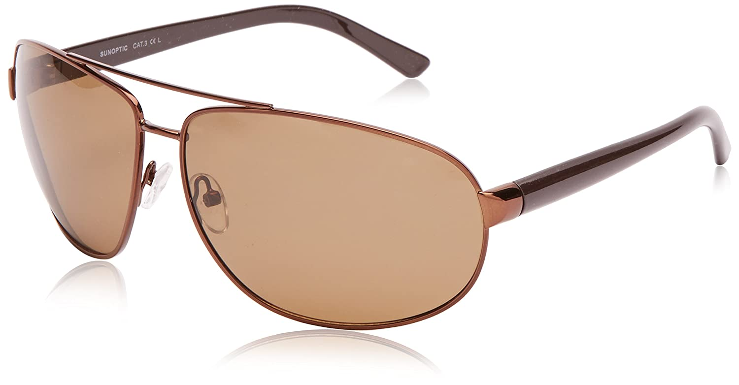 Sunoptic Lunettes Ovale Femme - Marron - Transparent Brown - FR : Taille unique (Taille fabricant : One Size) 5UD1Yz