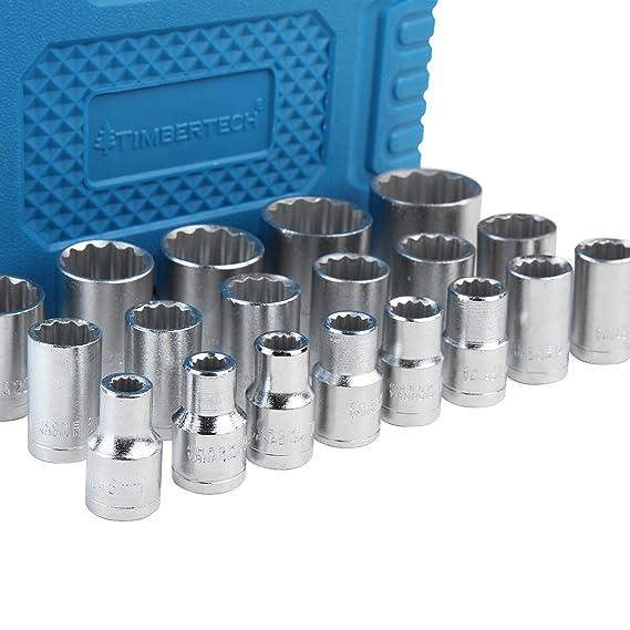 Timbertech - Set de 19 llaves de vaso con maletín: Amazon.es: Bricolaje y herramientas