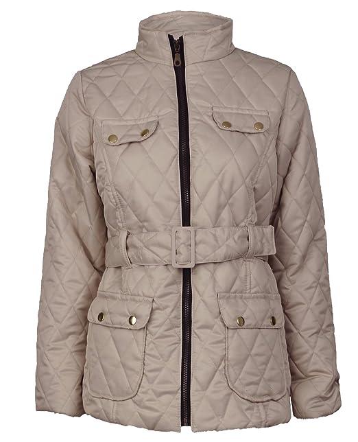 Nuevo Belted diseño de niñas de acolchada de felicitación para Paded chaqueta Barbour perchero de pared