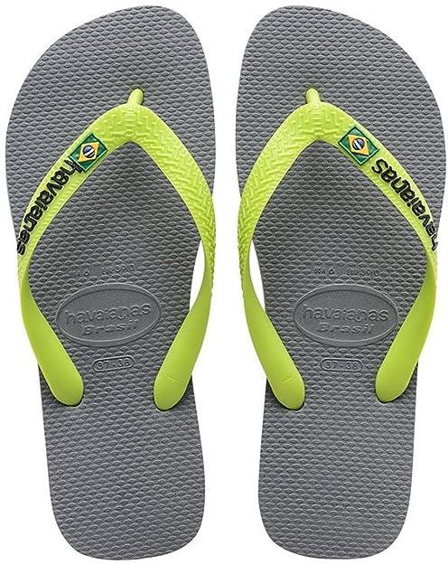 Chanclas en gris con logo de Brasil de Havaianas buhfMTu