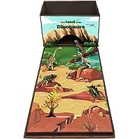 Livememory pliable jouet Boîte de rangement Tissu Toys Organiseur avec Fun Tapis de jeu pour enfants (Dinosaures non inclus)