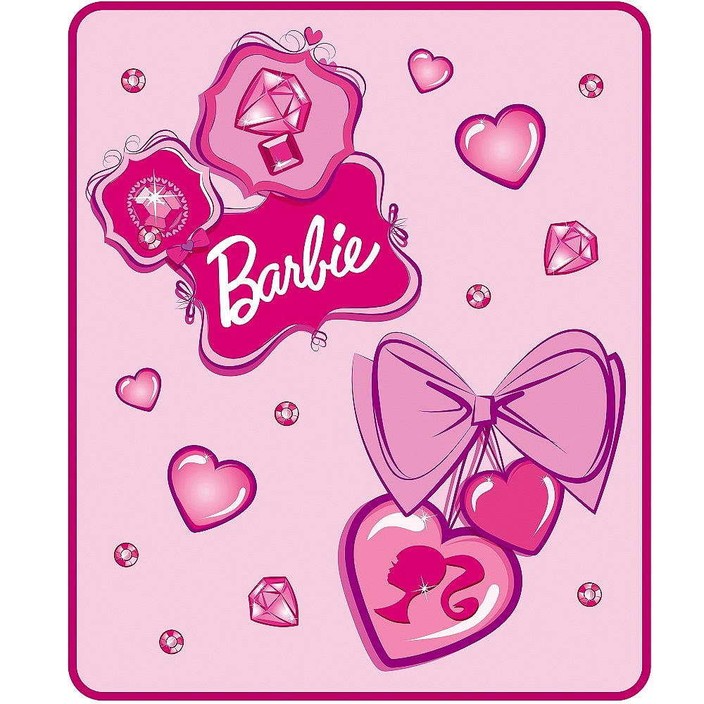 Barbie Falling Jewels Throw Blanket