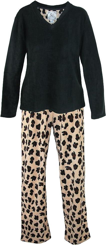 PJ Couture - Pijama - Animal Print - para mujer Negro negro ...
