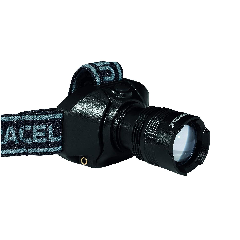 Duracell Taschenlampe, Explorer Headlamp PRO Serie Stirnlampe mit Band, helle 120 Lumen, Schwarze Kunststoffbeschichtung, Duracell Batterien enthalten (1 Stü ck) (HDL-2C)