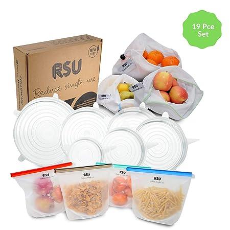 Bolsa de almacenamiento reutilizable de 19 piezas – Embalaje libre ...