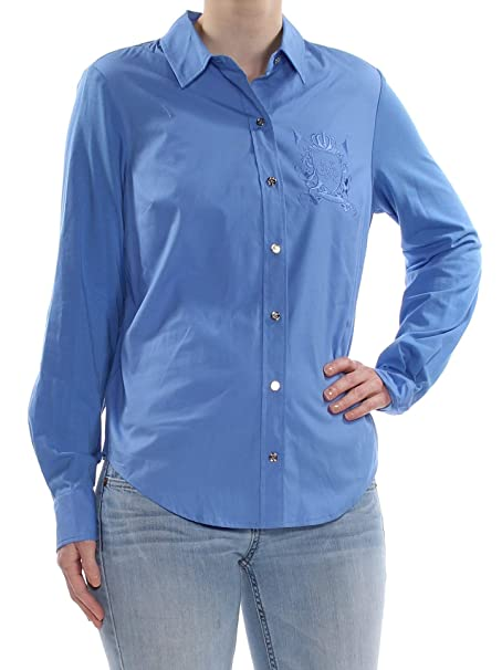 1e6f90c4 Image Unavailable. Image not available for. Color: Tommy Hilfiger $69 Womens  New 1453 Light Blue Long Sleeve ...