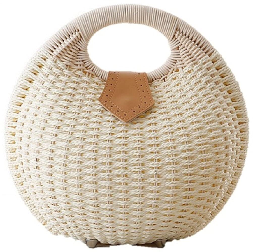 Retro Handbags, Purses, Wallets, Bags Simple Balloon Style Straw Hand Bag $28.90 AT vintagedancer.com