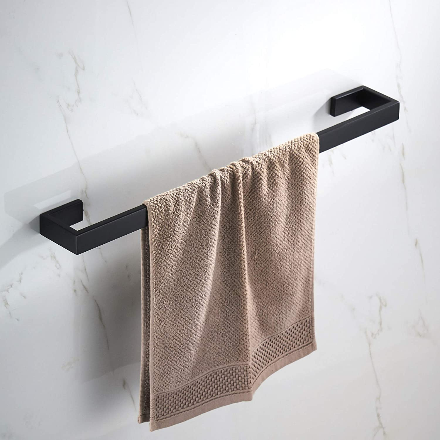 Junsun Towel Bar 24 Inch Stainless Steel Towel Holder Modern Bathroom Accessories Towel Rack Wall Mounted Matte Black Amazon Ca Home Kitchen