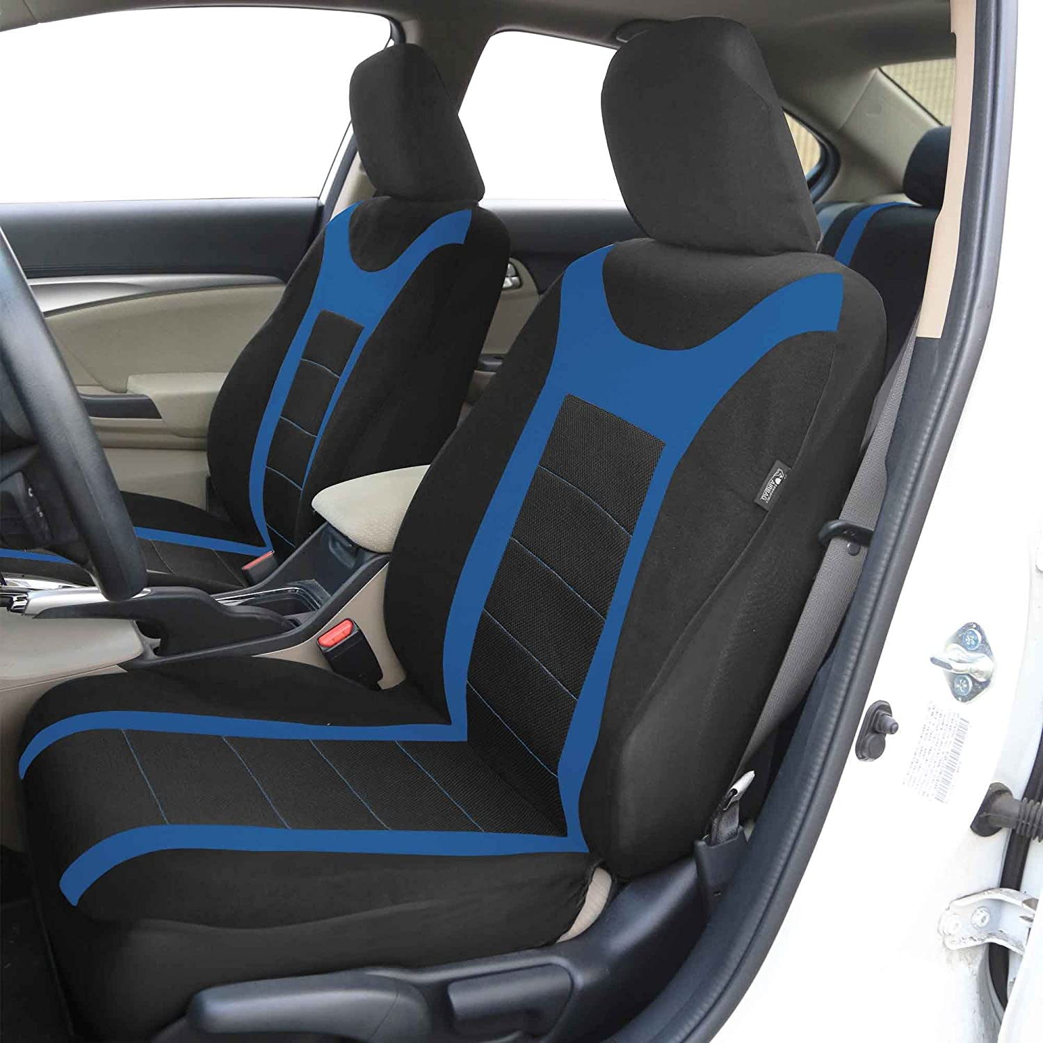 Airbag Compatible and Split Bench Black FH Group FB036BLACK115 Seat Cover