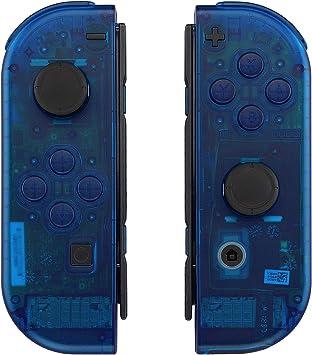eXtremeRate Carcasa Transparente para Joy-con de Nintendo Switch, Funda de Agarre de reemplazo Joycon Shell con Botón Completo para Nintendo Switch No Incluye la Carcasa de la Consola (Azul): Amazon.es: Electrónica