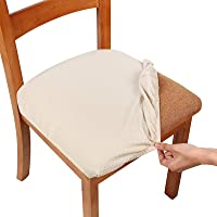 Smiry Stretch Spandex Jacquard Dining Room Chair Seat Covers, Removable Washable Anti-dust Dinning Chair Seat Cushion…