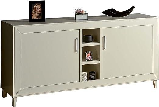 Legno&Design Buffet Moderne Meuble Blanc Mat Deux Portes ...