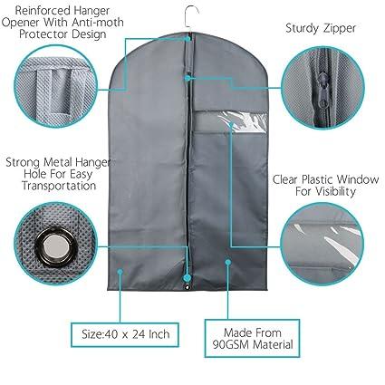 Amazon.com: eDealMax transpirable ropa Portadores Bolsas Traje, ropa Cubiertas Para Los juegos de viaje de almacenamiento, Vestidos, ropa de cama, ...