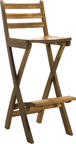 Christopher Knight Home Tundra Outdoor Foldable Wood Barstool
