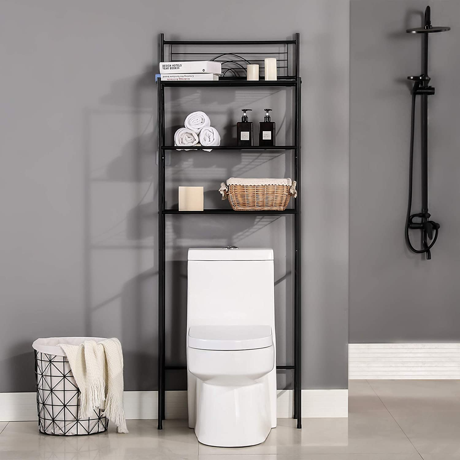 MallBoo Toilet Storage Rack, 3 -Tier Over-The-Toilet Bathroom Spacesaver - Easy to Assemble