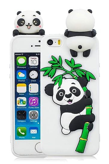 various colors ad8f8 7c9e3 iPhone 7 Plus Panda Case, iPhone 8 Plus Panda Case, 3D Cartoon Cute Animal  Phone Cover for iPhone 7 Plus & iPhone 8 Plus Silicone Rubber Cases Girls,  ...